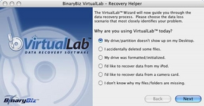 Screenshot 2 for VirtualLab Data Recovery