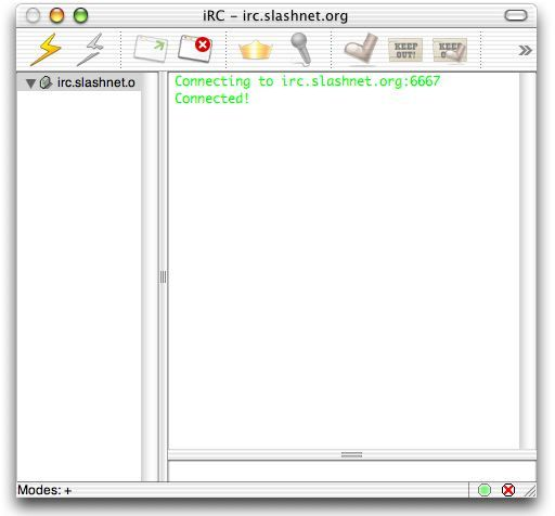 Screenshot 1 for iRC