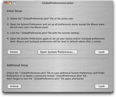 Screenshot 2 for GlobalPreferencesLocker