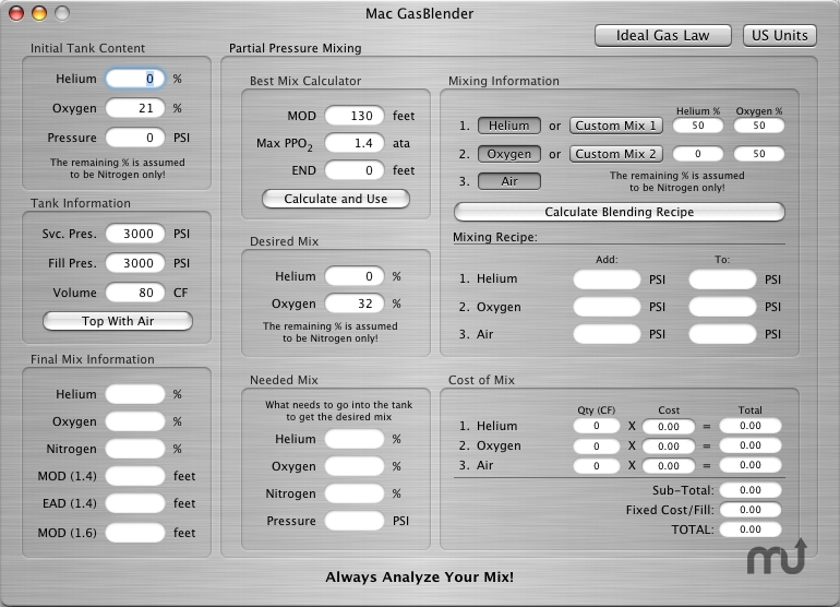 Screenshot 1 for Mac GasBlender III