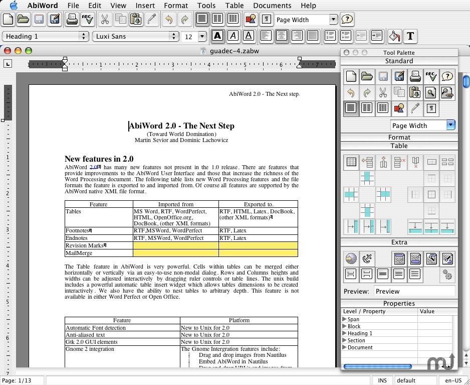 AbiWord Development 2.9.4 - Free Download