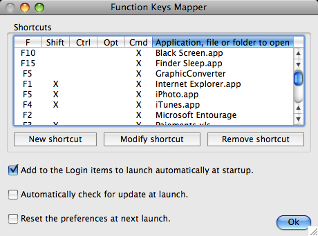 Screenshot 1 for Function Keys Mapper