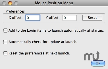 Screenshot 1 for Mouse Position Menu