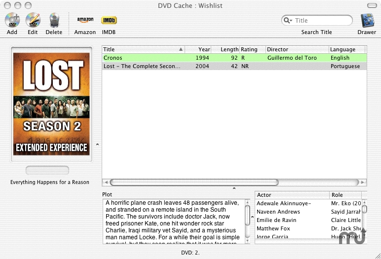 Screenshot 1 for DVD Cache