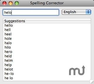 Screenshot 1 for Spelling Corrector