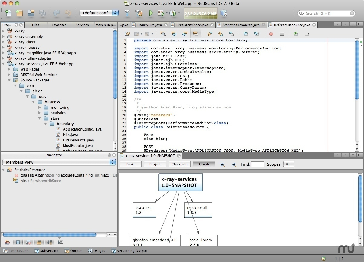 Screenshot 1 for NetBeans