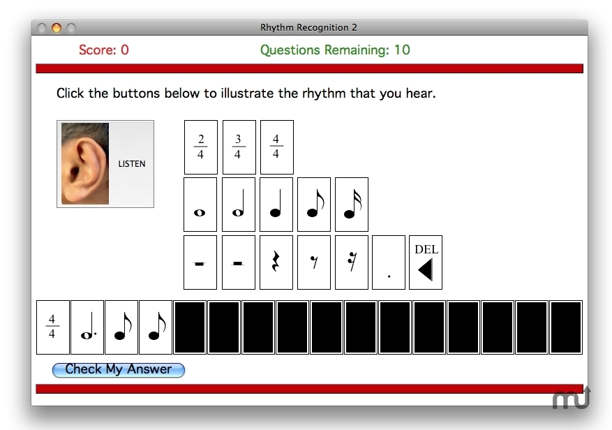 Screenshot 1 for Dolce Ear Training