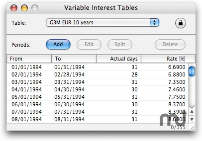 Screenshot 1 for FinKit Interest Tables