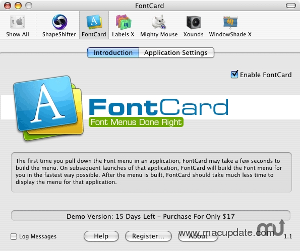 Screenshot 1 for FontCard