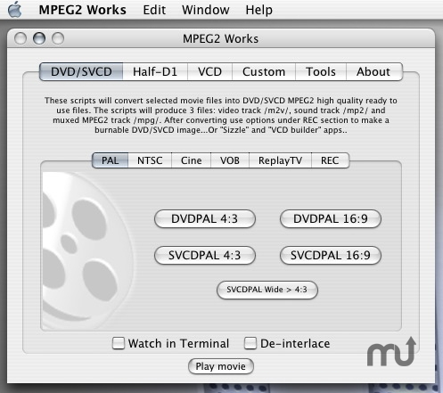 Screenshot 1 for MPEG2 Works