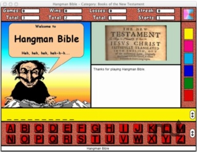 Screenshot 1 for Hangman Bible