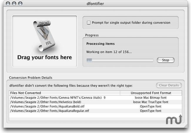 Screenshot 1 for dfontifier