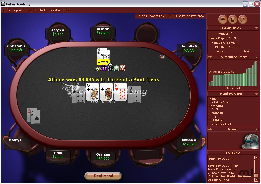 Screenshot 1 for Poker Academy Pro