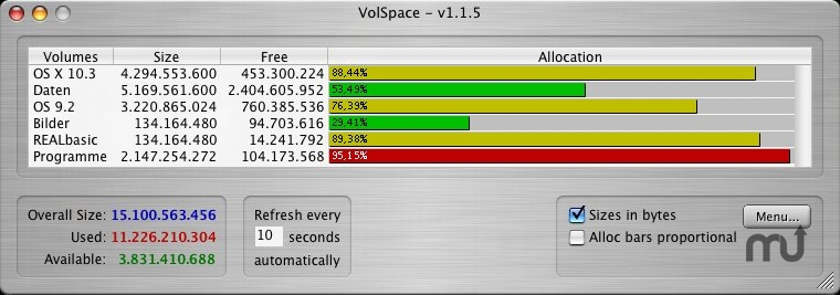 Screenshot 1 for VolSpace