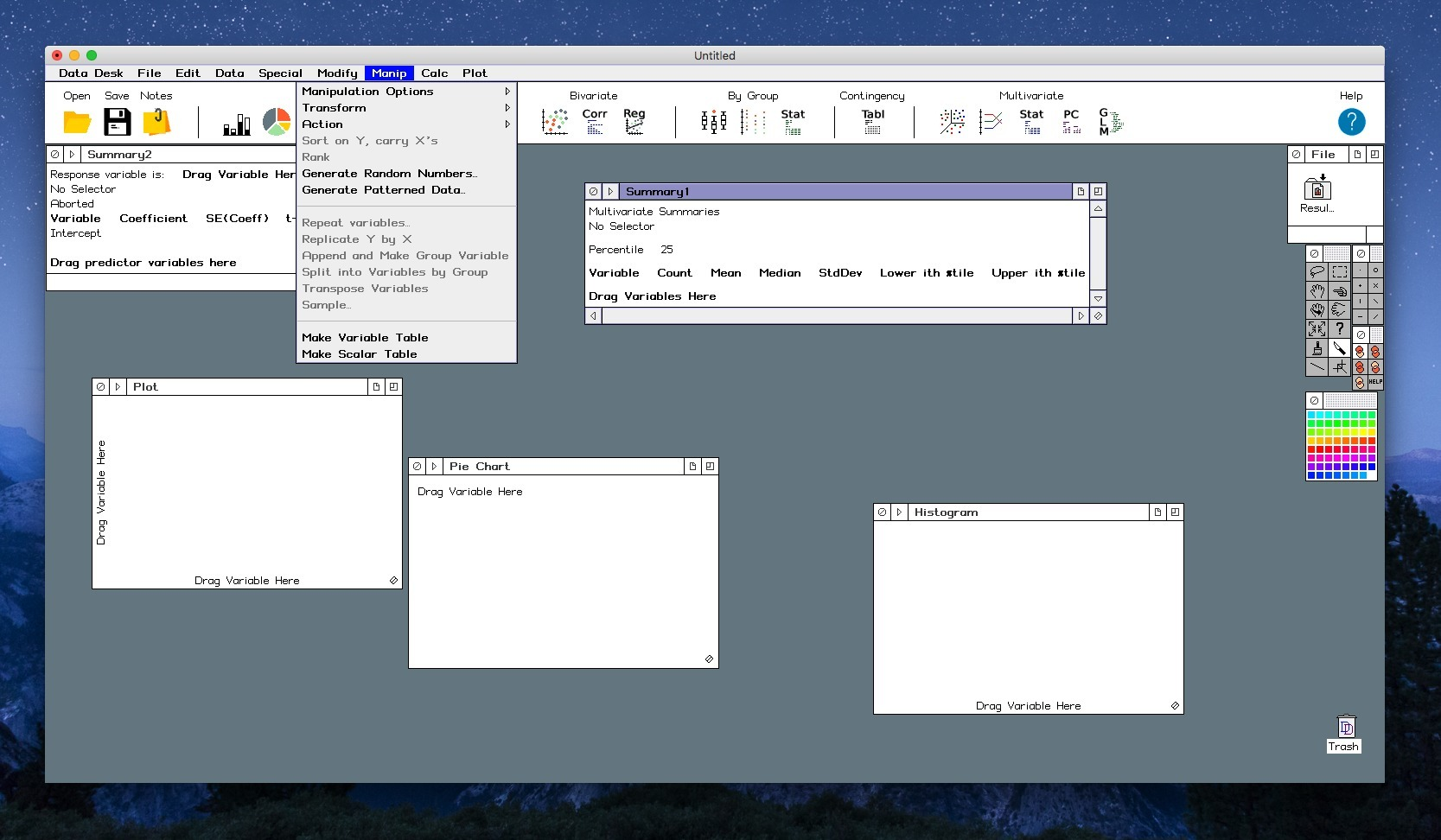 Screenshot 1 for Data Desk