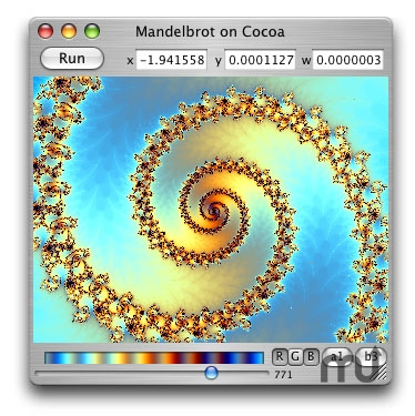 Screenshot 1 for Mandelbrot on Cocoa