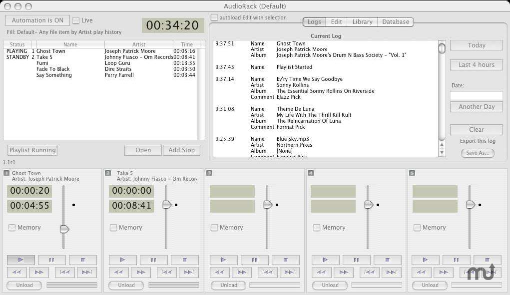 Screenshot 1 for AudioRackSuite