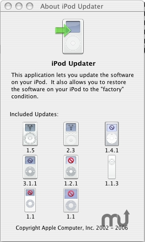 Screenshot 1 for Apple iPod Updater