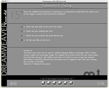 Screenshot 1 for Dreamweaver MX 2004 Exam Aid