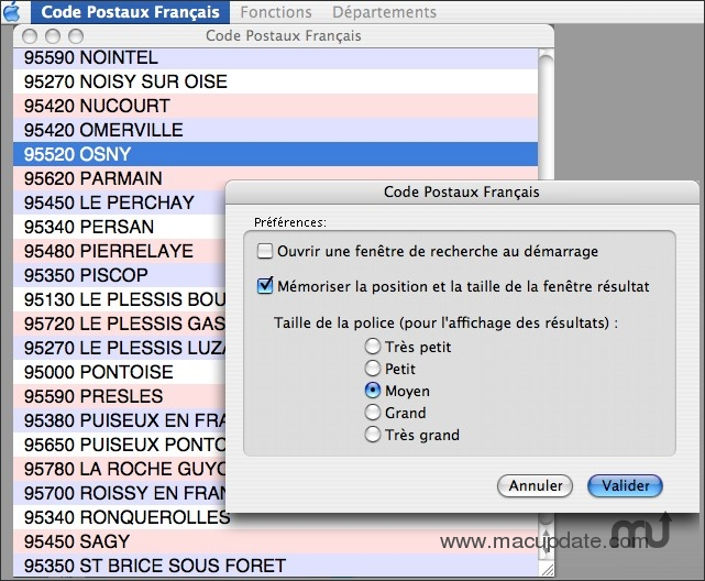 Screenshot 1 for Code Postaux Français