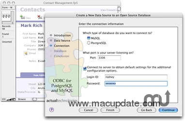 Screenshot 1 for Actual ODBC Driver for Open Source Databases.