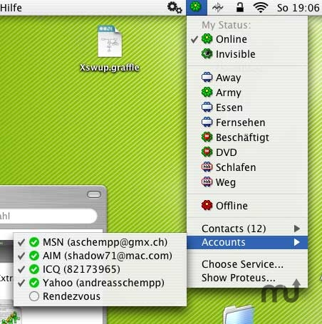 Screenshot 1 for ProteusMenu