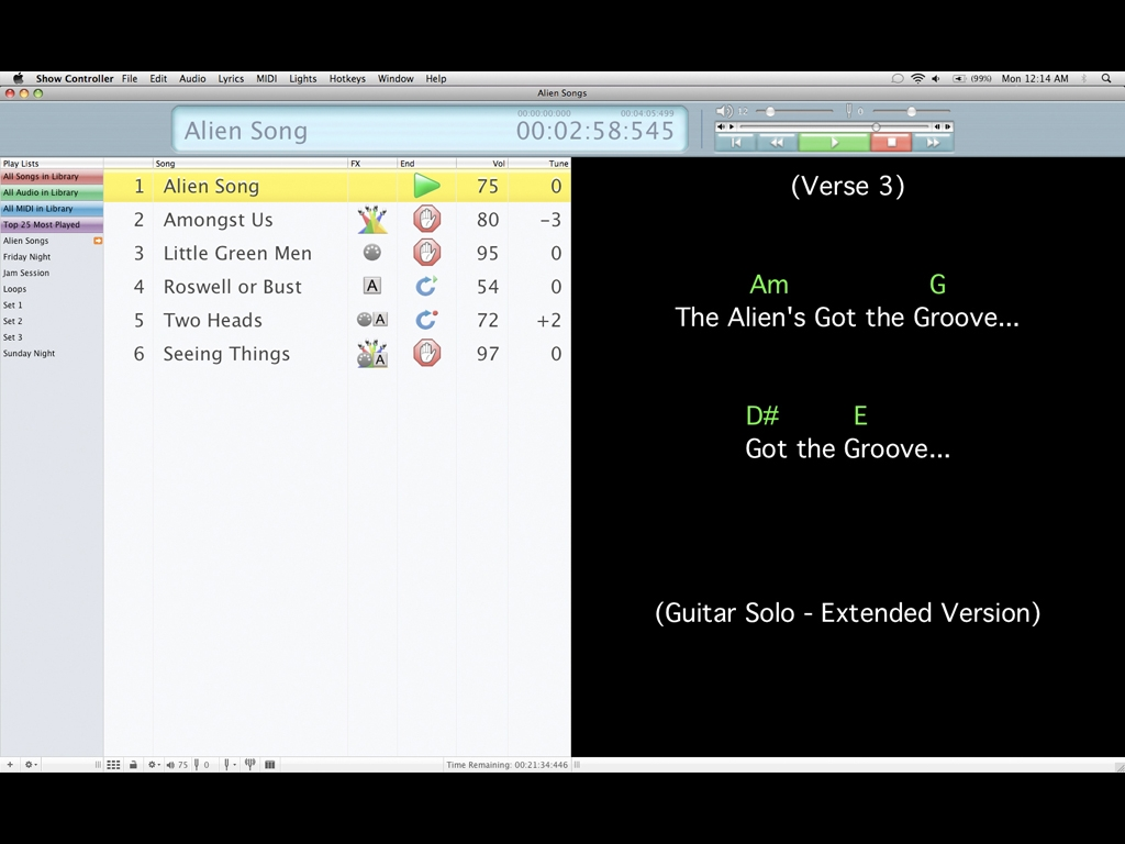 Screenshot 1 for Solo Performer Show Controller