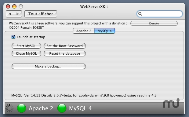 Screenshot 1 for WebServerX Kit