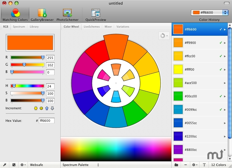 Screenshot 1 for Color Schemer Studio