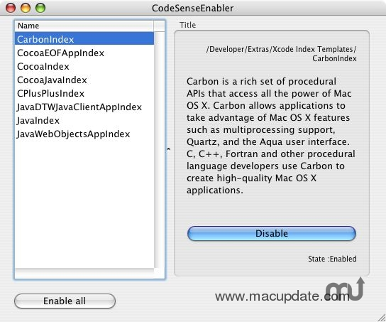 Screenshot 1 for CodeSenseEnabler