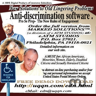 Screenshot 1 for Employment Discrimination Software