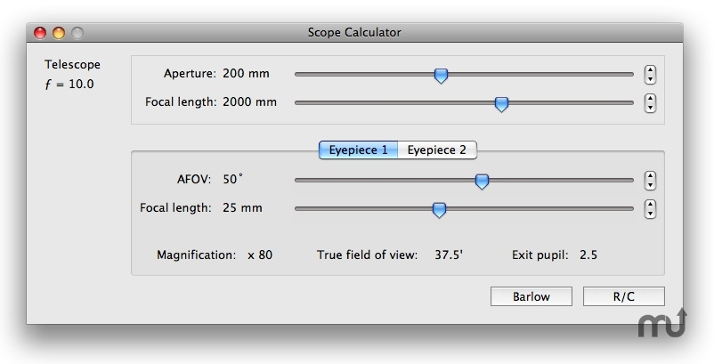 Screenshot 1 for Scope Calculator