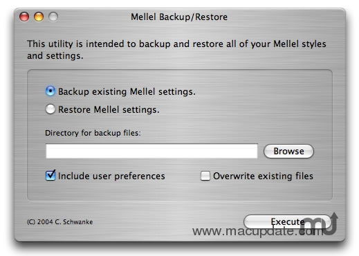 Screenshot 1 for MellelBackup