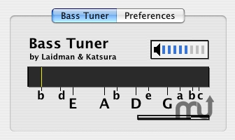 Screenshot 1 for Bass Tuner AU