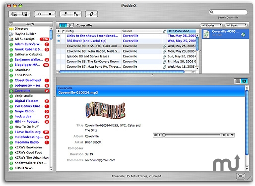 Screenshot 1 for iPodderX