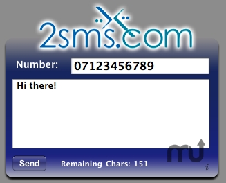 Screenshot 1 for 2sms.com Widget