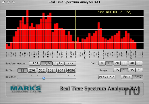 Screenshot 1 for Real Time Spectrum Analyzer XA1