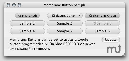 Screenshot 1 for Membrane Button Cocoa