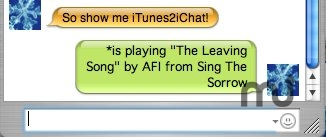 Screenshot 1 for iTunes2iChat