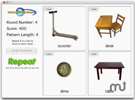 Screenshot 1 for LOWA ESL Memory Game