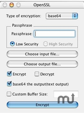 Screenshot 1 for OpenSSL File Utilities