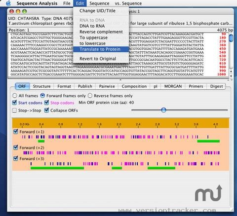 Screenshot 1 for Sequence Analysis
