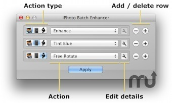 Screenshot 1 for iPhoto Batch Enhancer