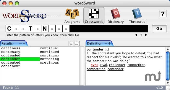 Screenshot 1 for wordSword