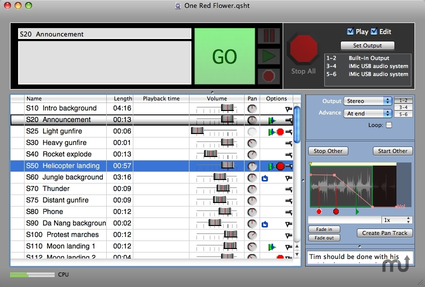 Screenshot 1 for Macs Cue