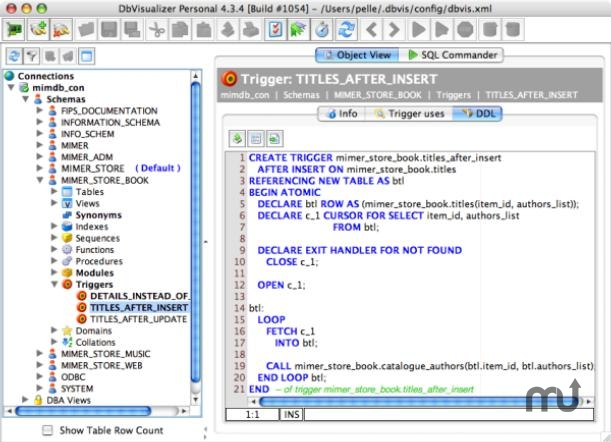 Screenshot 1 for Mimer SQL