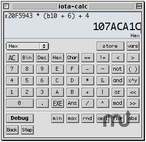 Screenshot 1 for iota-calc