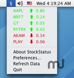 Screenshot 1 for StockStatus