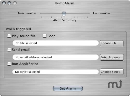 Screenshot 1 for BumpAlarm