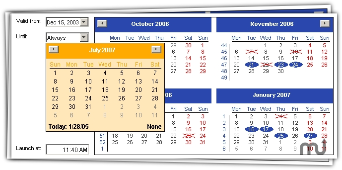 Screenshot 1 for Java Date Picker